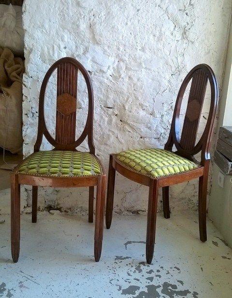 Chaises Art Déco relooké esdans lu pur respect du style dans l - comment peindre une chaise
