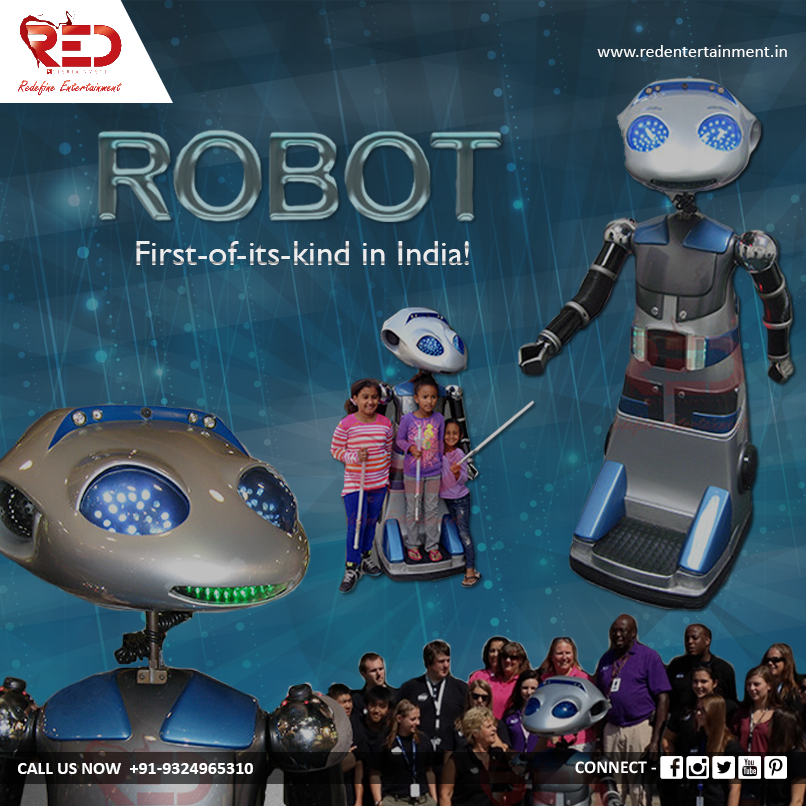 Entertain guests at your event with technology like never before with our ultimate Robot entertainment!   For more such tech-savvy acts, visit us now at: http://www.redentertainment.in/