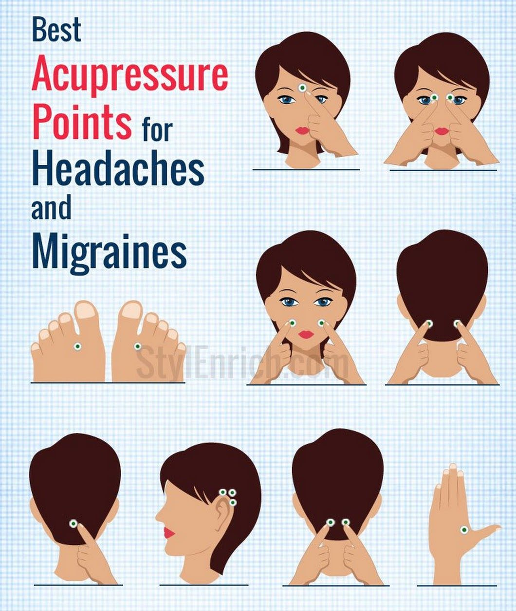 Face Pressure Points Diagram Root Cause Fishbone Template Acupressure For Headache And Migraines Quick