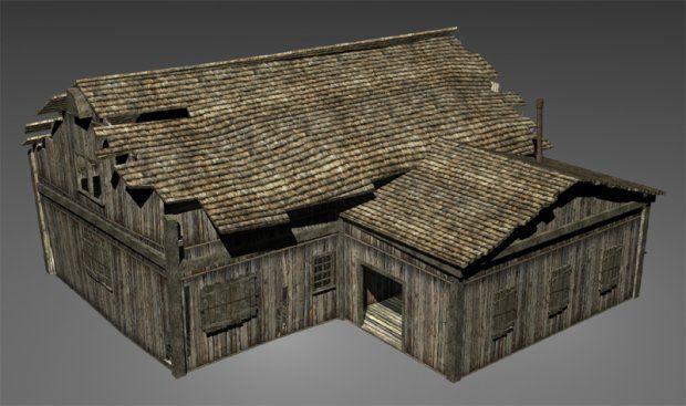 Wood House 3d model free | CS188 Assets | House 3d model