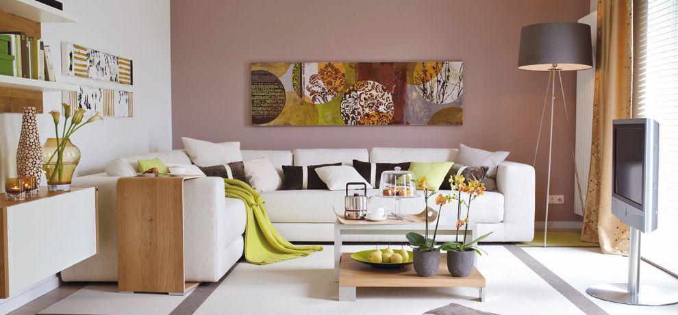 farbidee wohnzimmer kuschelig im retro-trend – schÖner wohnen, Wohnzimmer