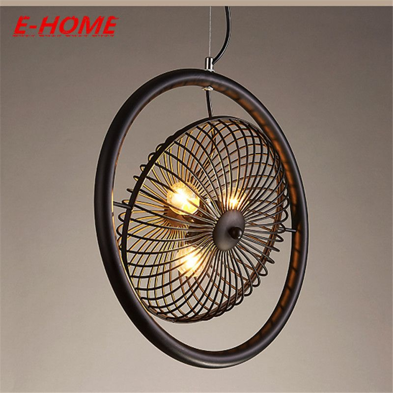 Loft Wrought Iron Ancient Fans A Industry Continuous System Restaurant Platform Cafe Originality Northern Europe Pendant Affiliate Ideias