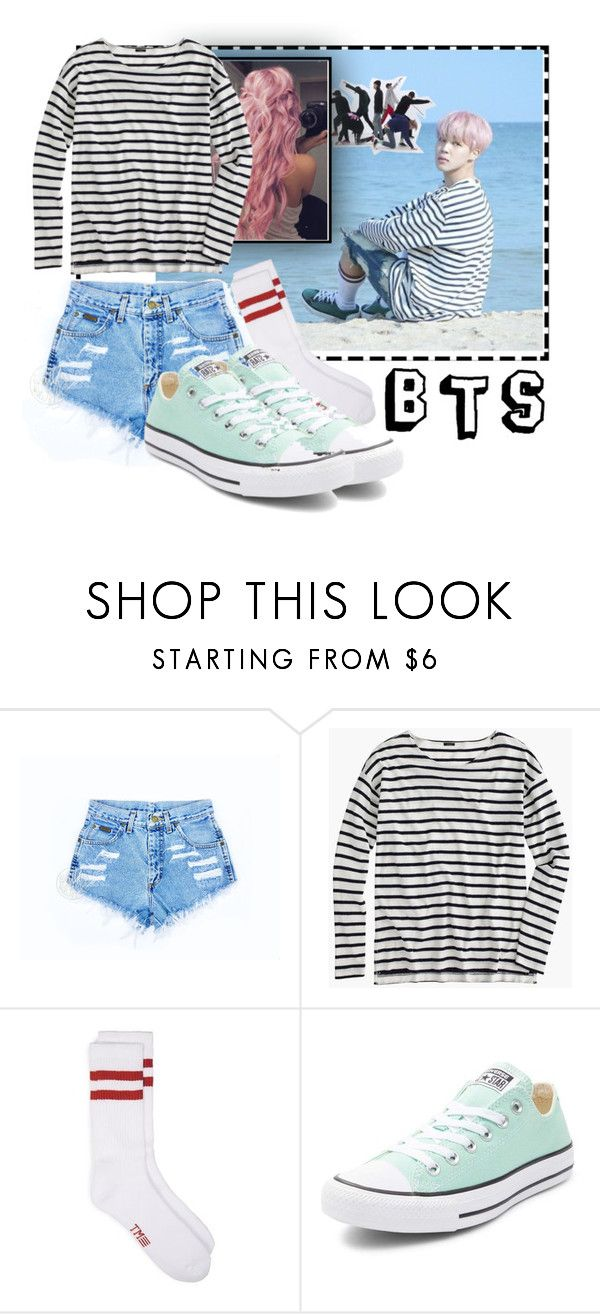 """""""Jimin's Spring Day Outfit For Girls"""" by shinee4ever ❤ liked on Polyvore featuring J.Crew and Converse"""