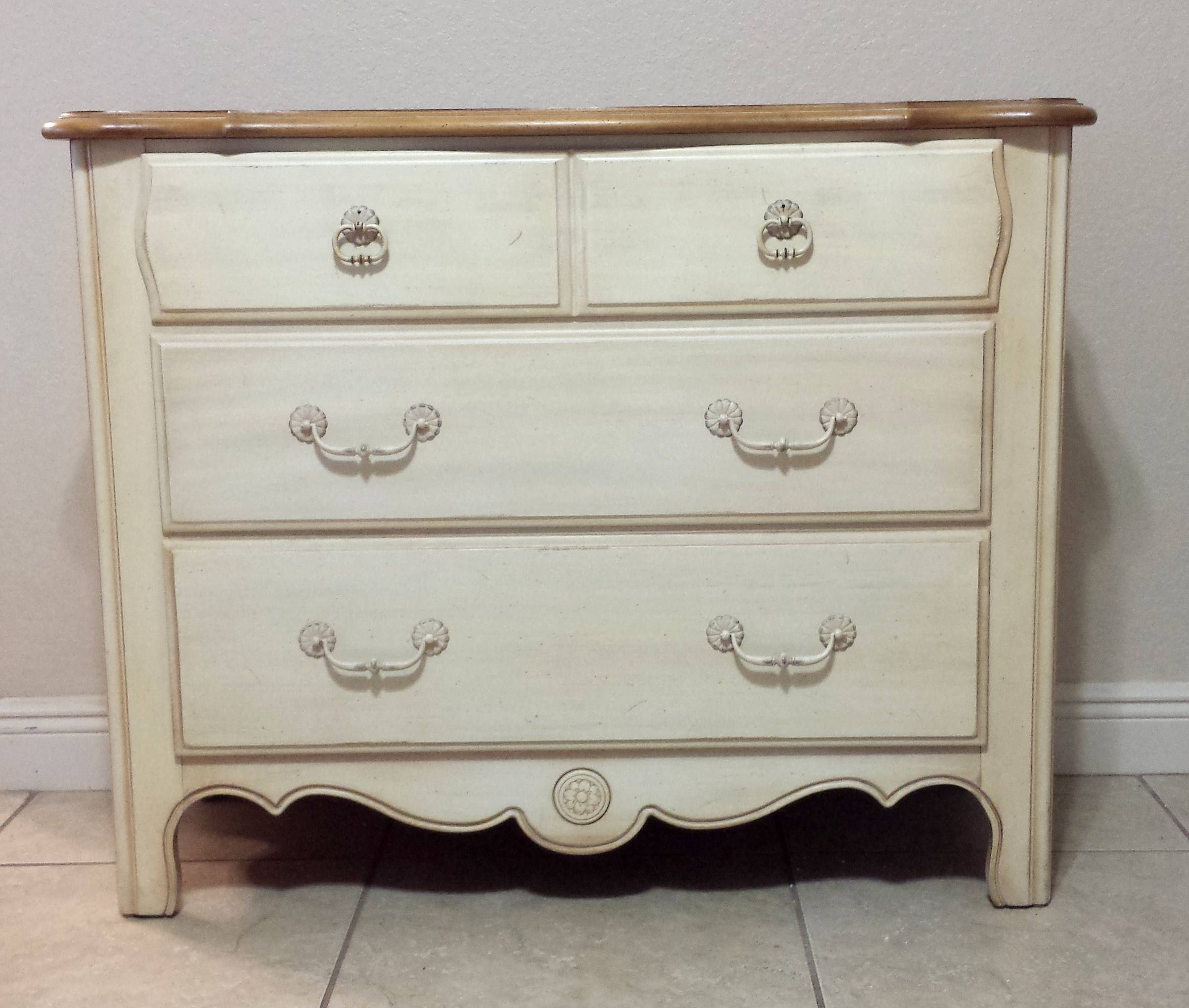 French Country 3 Drawers Chest By Ethan