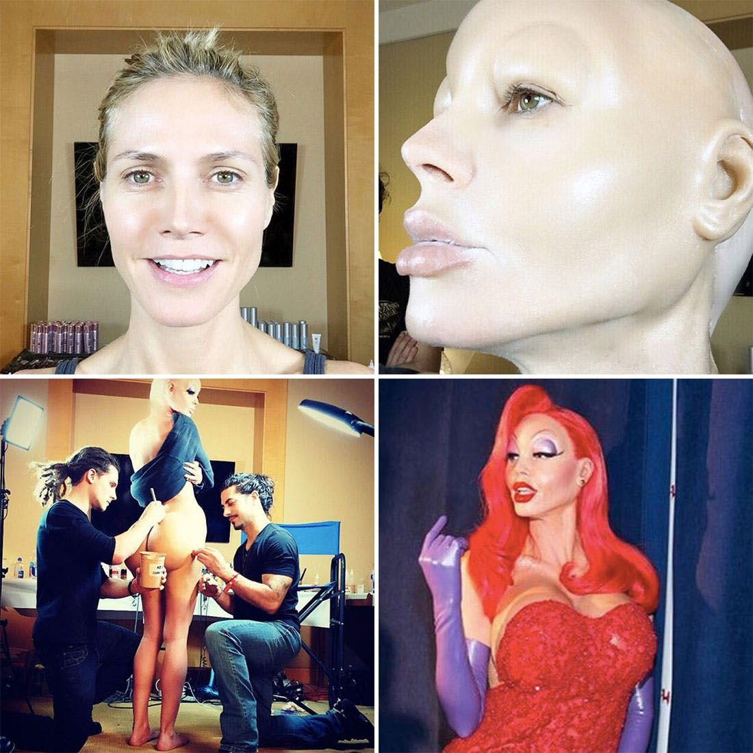See Heidi Klum's Insane Jessica Rabbit Halloween Costume ...