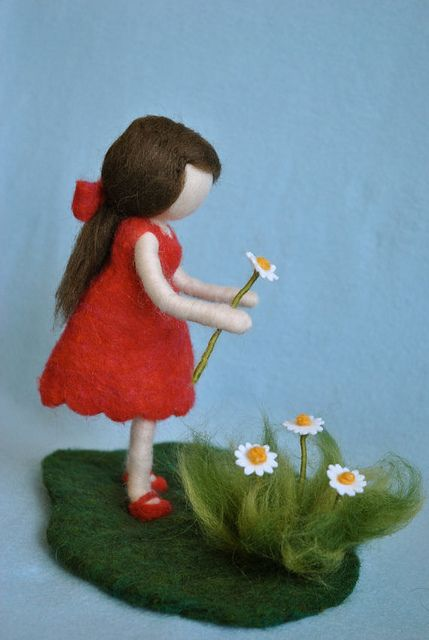 needle felting waldorf doll #littledolls