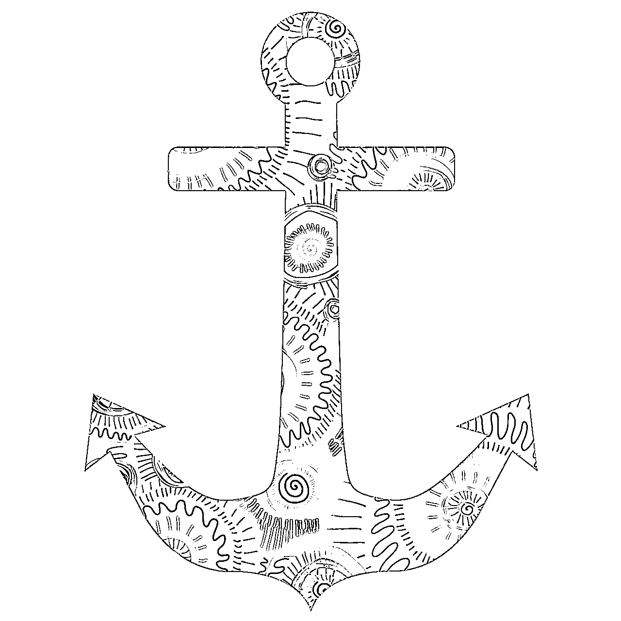Adult coloring pages anchor 3