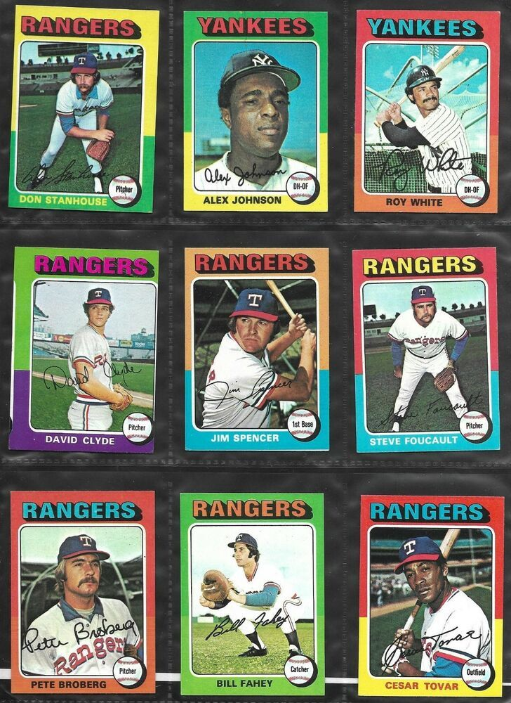 1975 topps baseball cards ebay