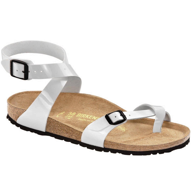 006957165 Birkenstock Women s Yara Bright White Birko-Flor Patent Sandal (R ...