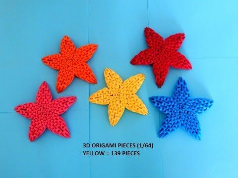 How To Make 3d Origami Star Christmas Decoration Youtube 3d