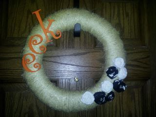 My handmade halloween wreath! I Love it!