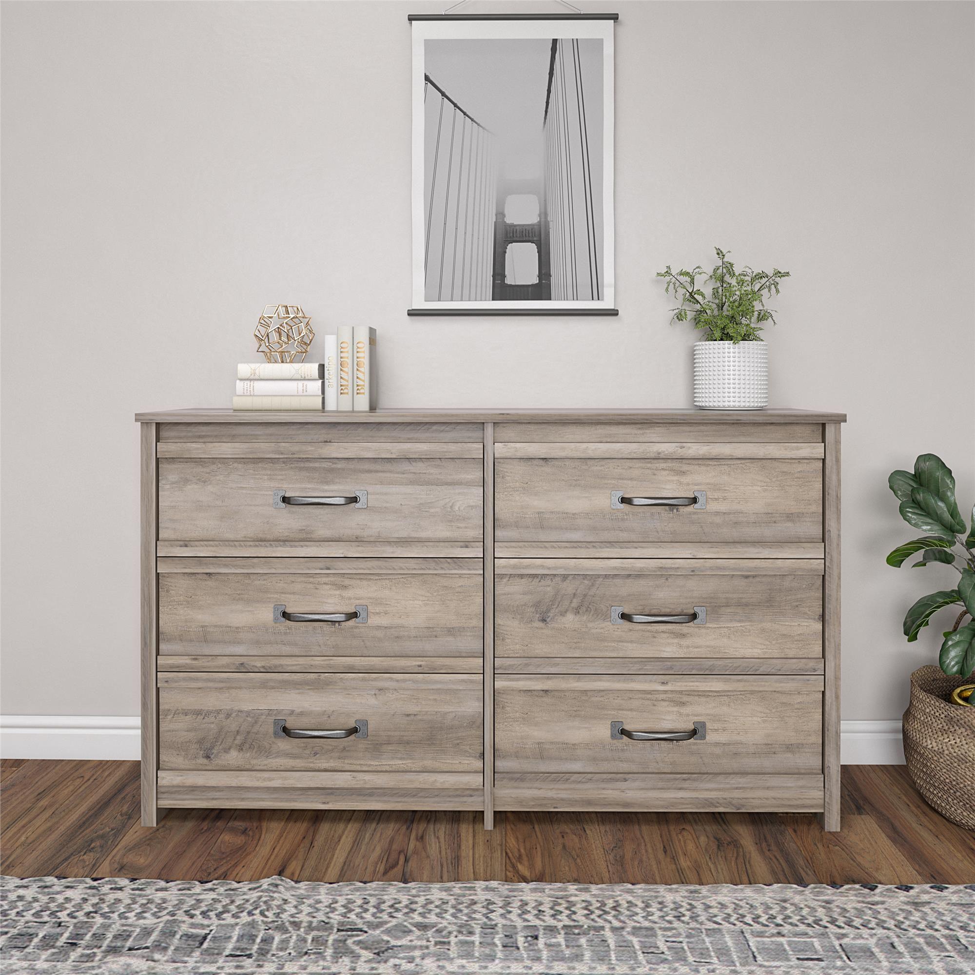 Better homes gardens rustic ranch 6 drawer dresser gray