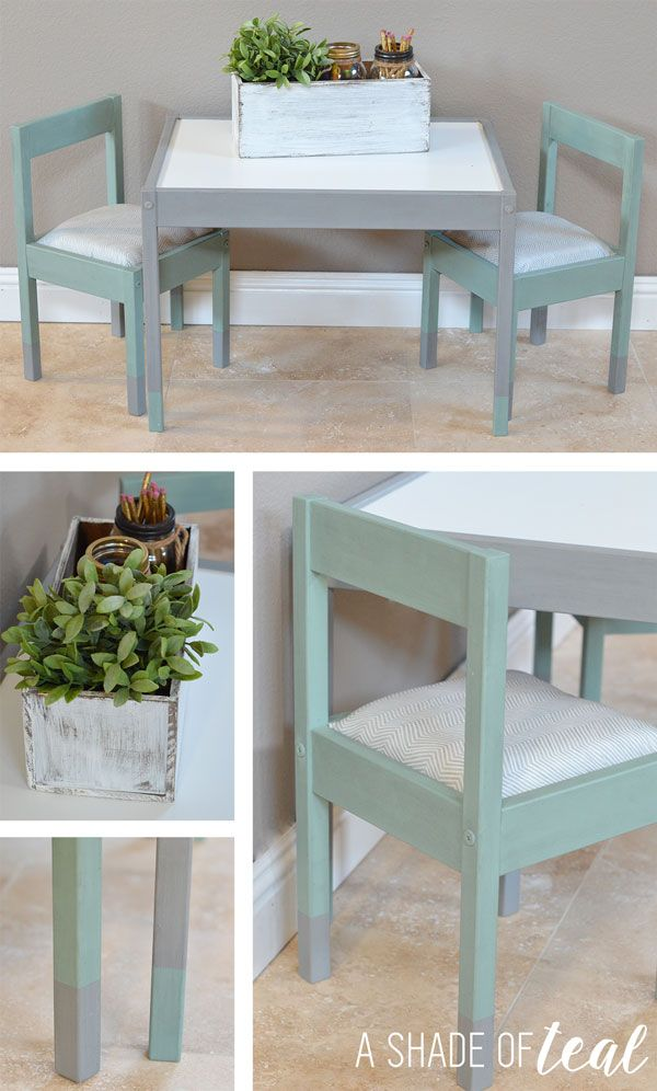 ikea kids table and chairs cheap parson hack latt makeover a shade of teal blog