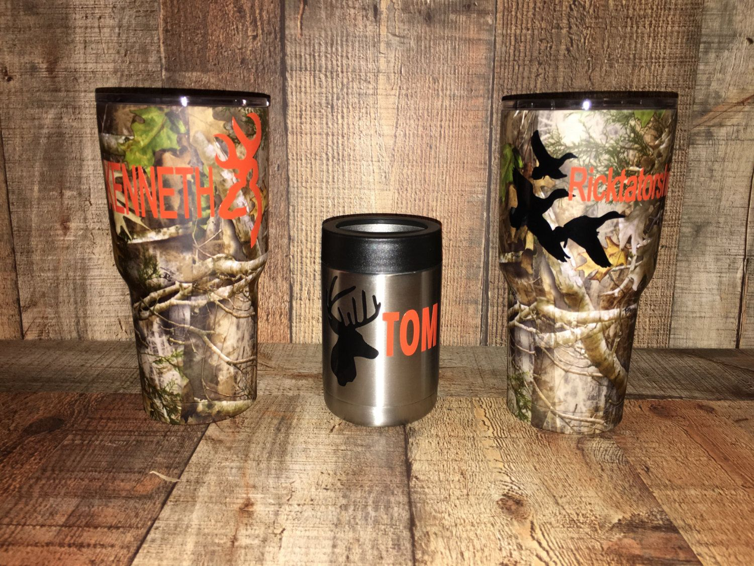 Customized Camo Rtic Tumbler Powder Coated Monogrammed