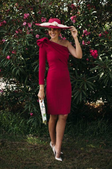 d42381b87 Look invitada: fresa mi nuevo color   Mi look   Vestido corto boda ...