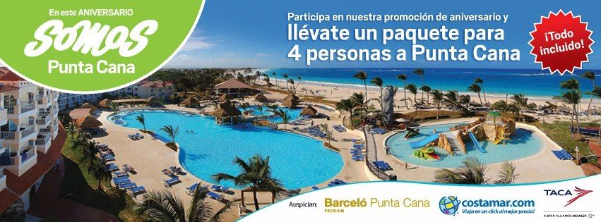 Tú puedes ser el ganador de este paquete para 4 personas a ¡PUNTA CANA! Ingresa aquí: https://www.facebook.com/pe.costamar