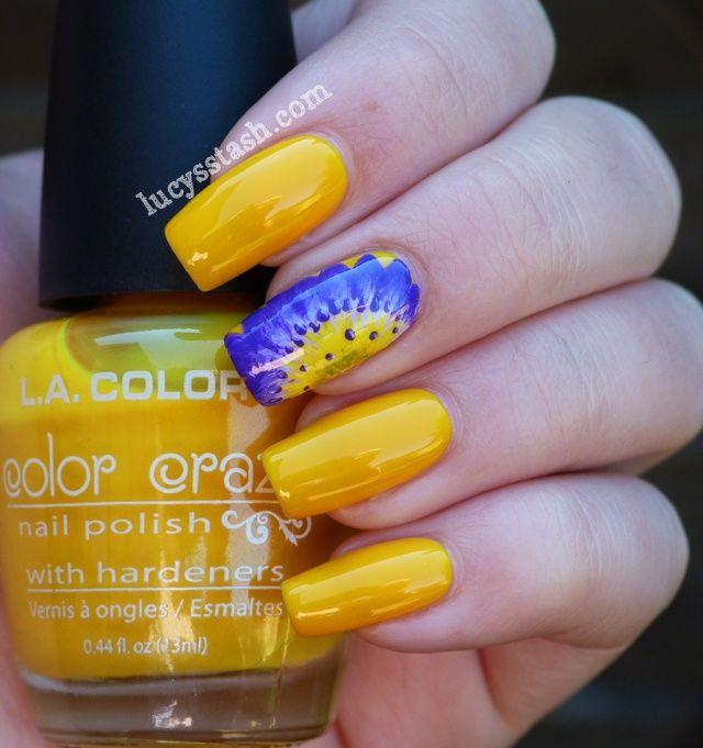 Lucys Stash - Purple lotus flower Nails   crazy nail lady ...