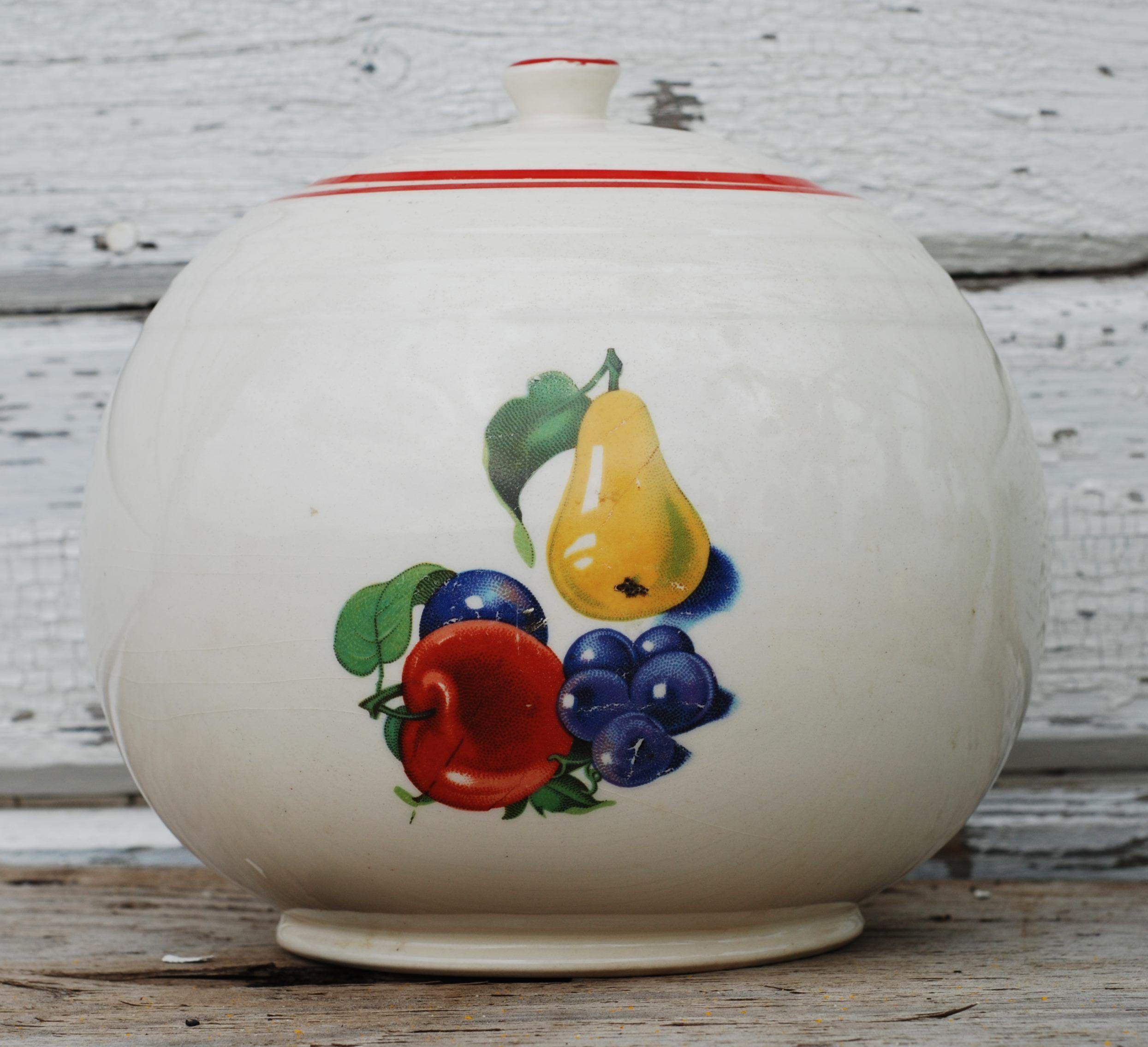 My cookie jar  (fruit decal)