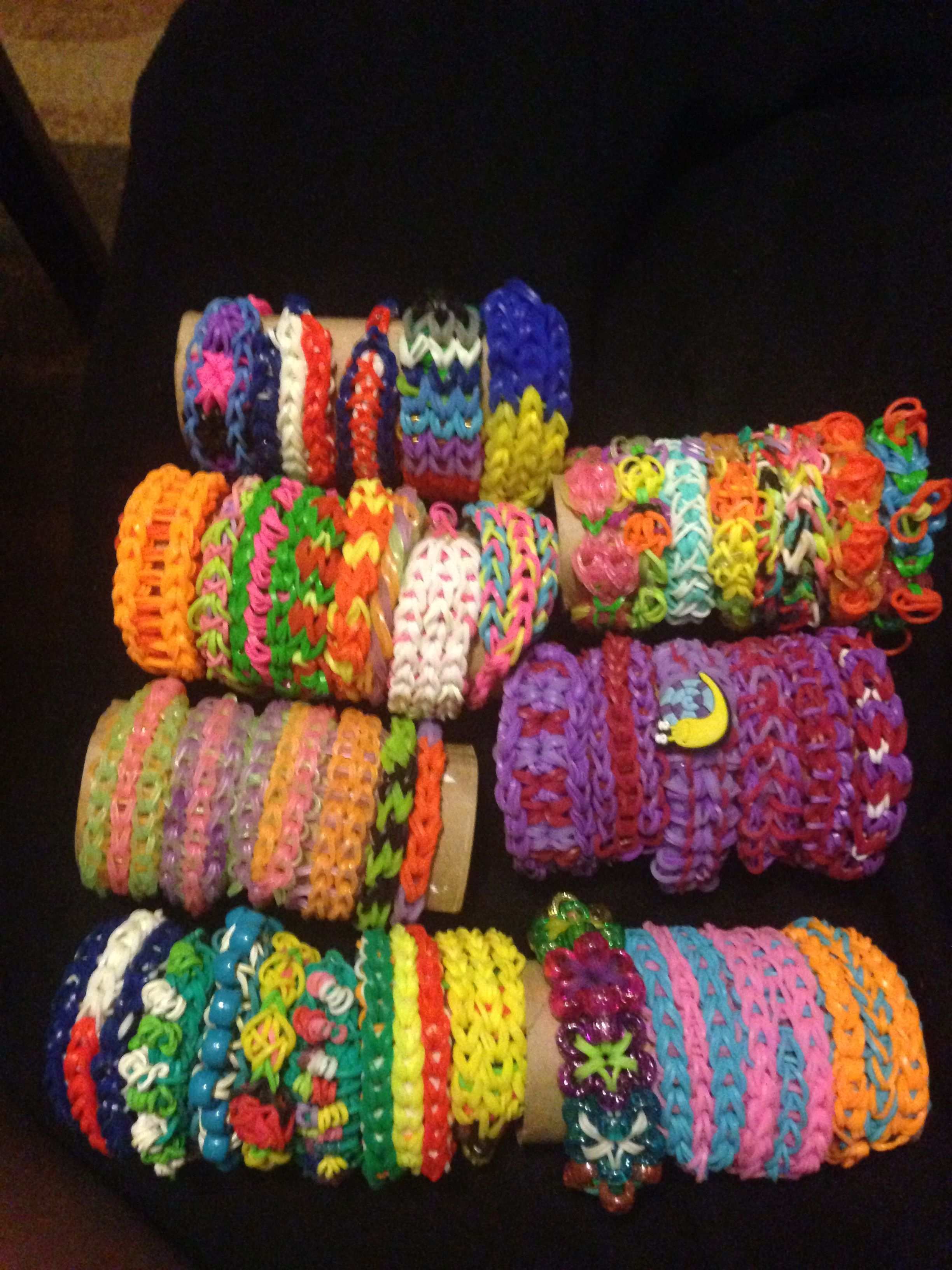Overview Material Rainbow Loom Rubber Bands Bracelets