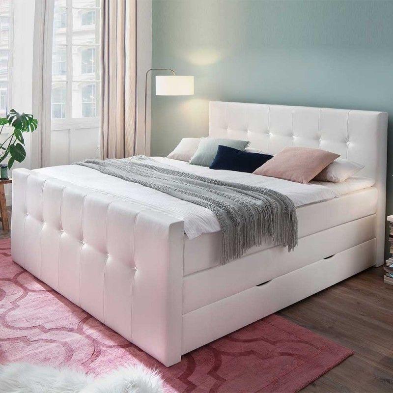 180x200cm KunstlederBoxspringbett mit Bettkasten