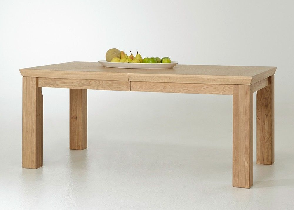 Esstisch ausziehbar Verona 180,0 cm Holz Eiche Bianco teilmassiv ...