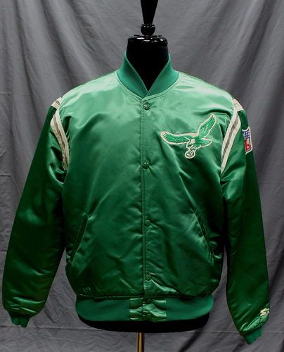 vintage PHILADELPHIA EAGLES 80s satin STARTER JACKET large NFL ... 449767c3d