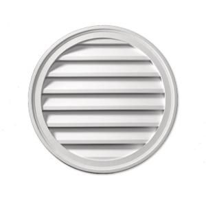 Fypon 12 In X 12 In X 1 5 8 In Polyurethane Decorative Round Louver Rlv12 Gable Vents Brick Molding Louver Vent
