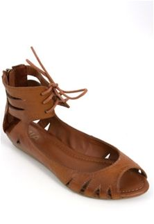 Mia Shoes Damsel Laser Cut Ankle Strap Sandals in Brown NM1502-LUGGAGE
