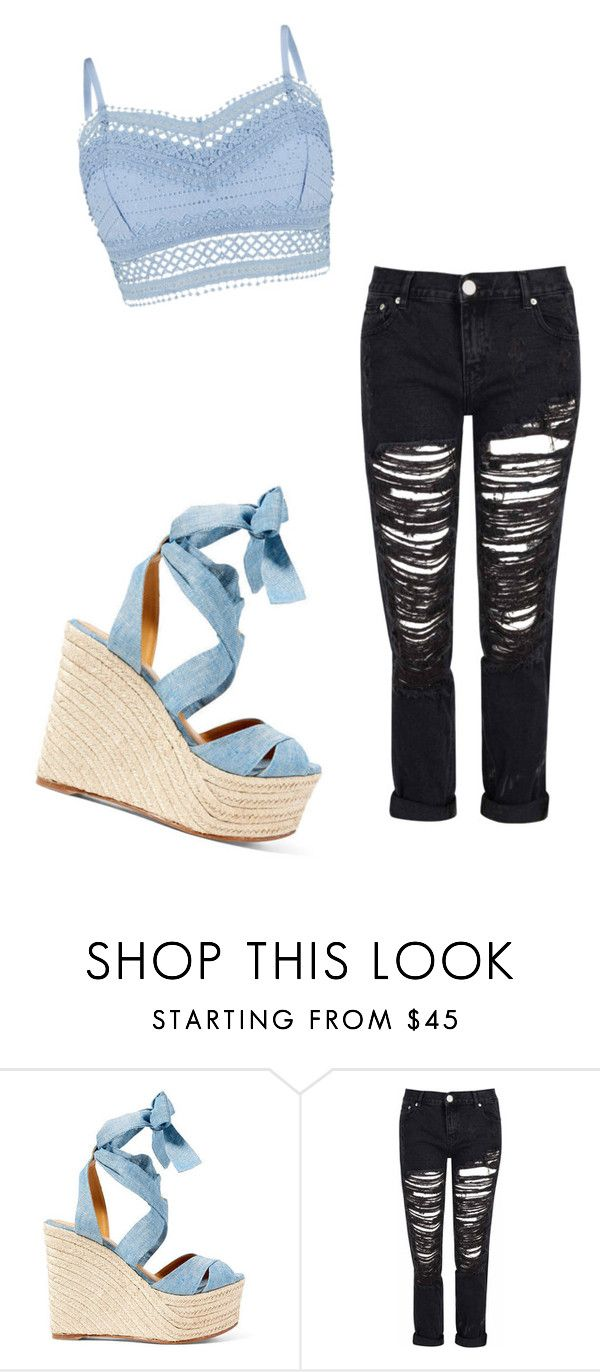 """Blue&Black"" by palsanchez ❤ liked on Polyvore featuring Ralph Lauren, Glamorous and Lipsy"