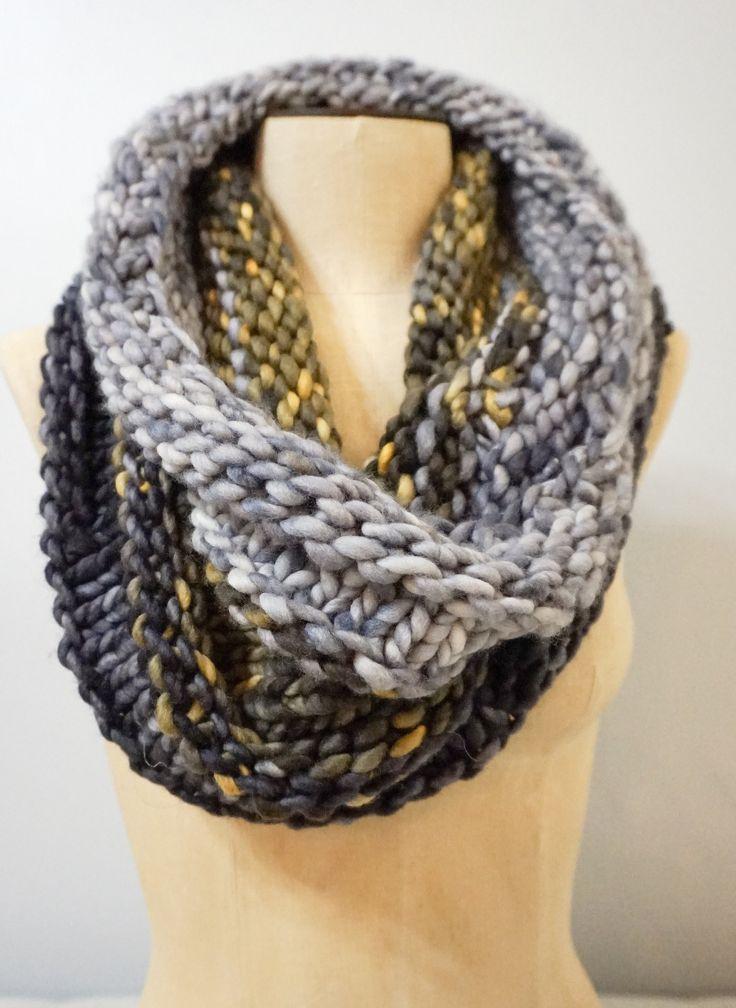 Chunky Knit Cowl Pattern #knitscarf #knitting   Cowl ...
