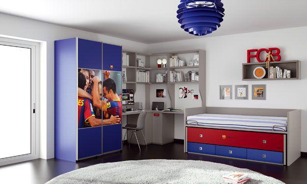 Muebles juveniles del fc barcelona mobiliario infantil y - Muebles infantiles barcelona ...