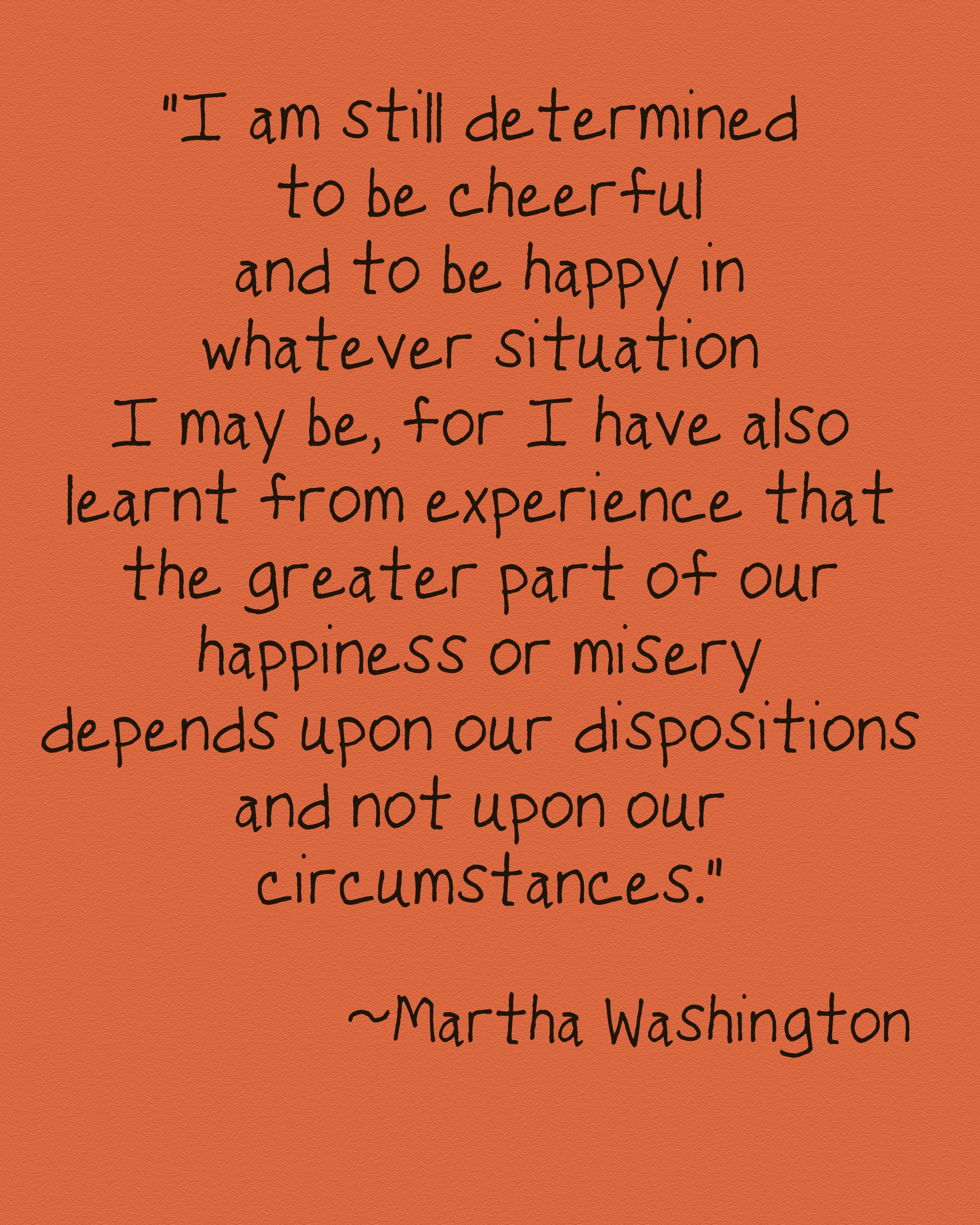 Martha Washington.