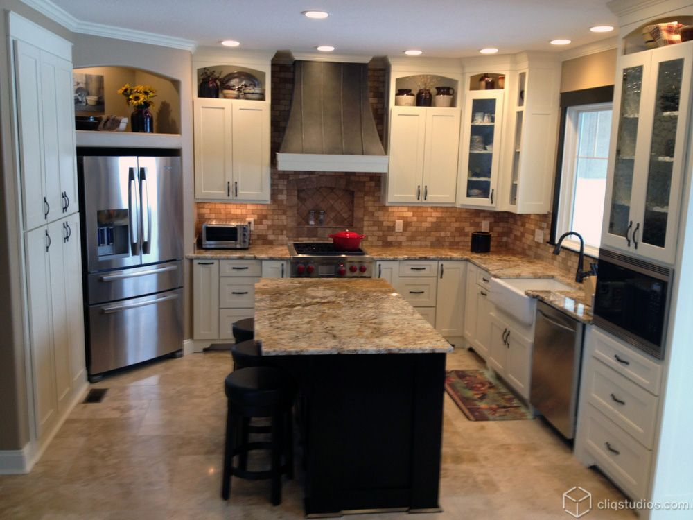 Dayton Painted Linen and Dayton Painted Carbon Mission Kitchen ...