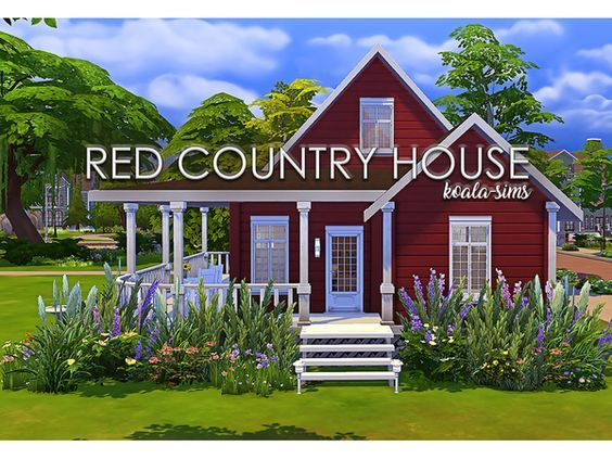 Red Country House by koala-sims at TSR • Sims 4 Updates