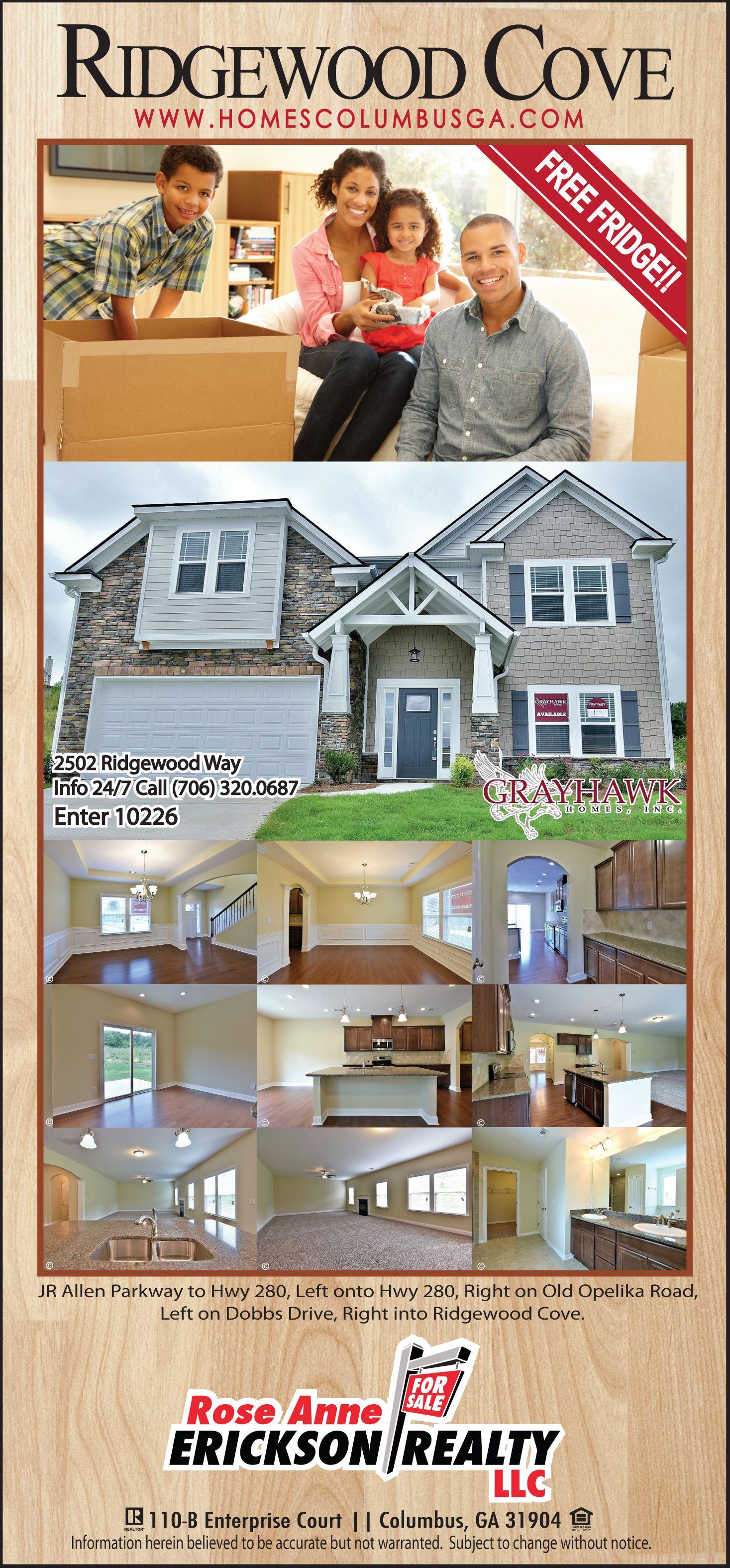 New Construction Homes in Ridgewood Cove off Dobbs Drive in Phenix City Alabama