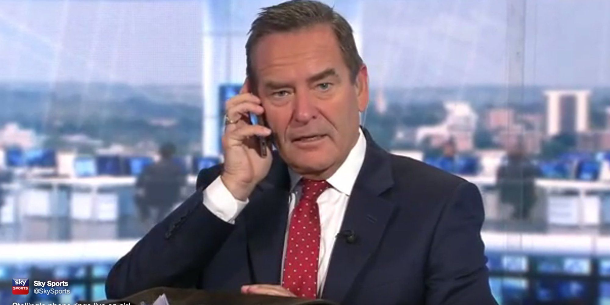 Sky Sports Presenter RedFaced As He Answers Call Live On