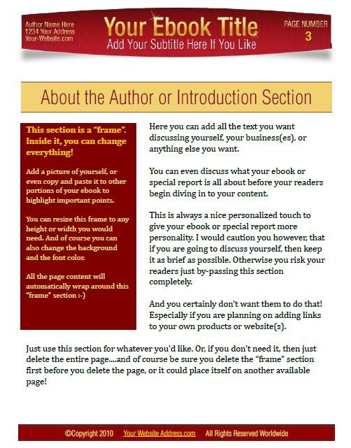 Microsoft Word Book Template Ebook Templates For Word Pinterest