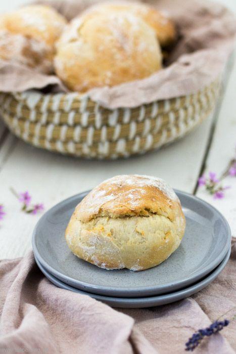 Schnelle Brötchen mit Dinkelmehl und Joghurt - Tulpentag. Foodblog.