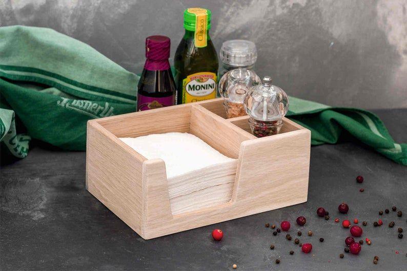Custom napkin holder wooden restaurant personalized napkin
