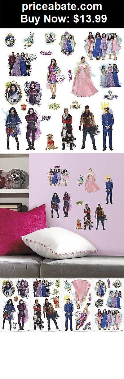 Kids At Home Disney Descendants 24 Wall Decals Mal Evie