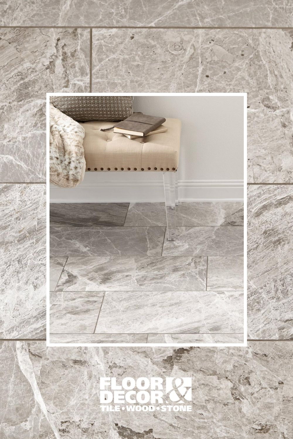 Maravilla City Gray Polished Marble Tile In 2020 Floor Decor Polished Marble Tiles Flooring