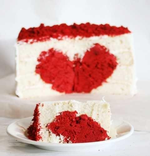 Heart Cake {Surprise Inside Cake!}   i am baker