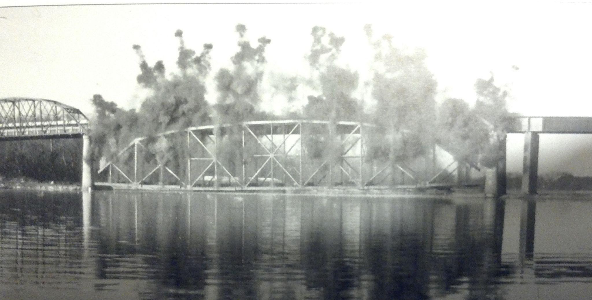 old bridge blown up