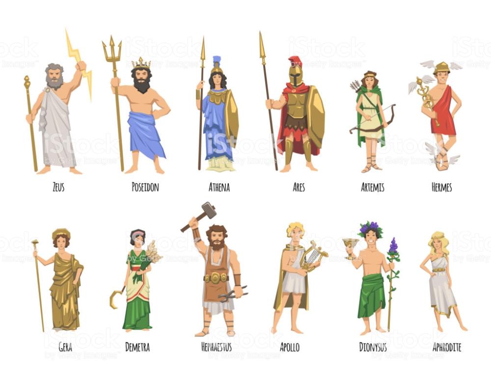 Pantheon Of Ancient Greek Gods Ancient Greece Mythology Set Of Ancient Gods Greece Greek En 2020 Dieux Grecs Mythologie Grecque Dieux Dieux Et Deesses Grecs