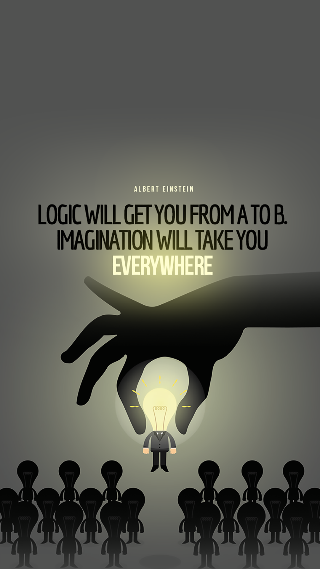 Tap And Get The Free App Art Creative Quotes Einstein Imagination Logic People Physics Hd Iphone 6 Plus Wallpaper Pendidikan