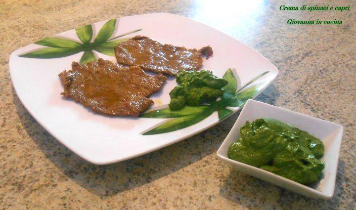 Crema di spinaci e caprì, senza sale, giovanna in cucina, vegetariano