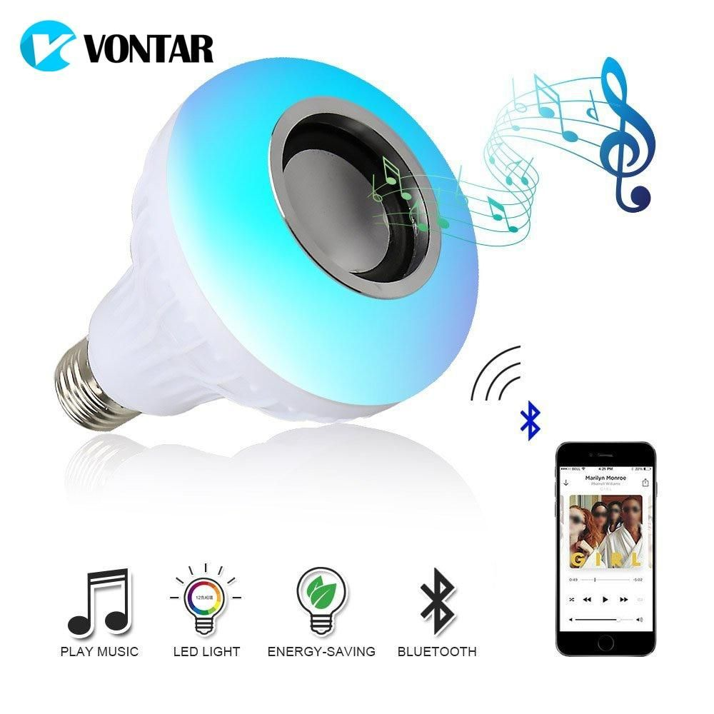 Vontar Bluetooth Speaker Rgb Bulb Led Lamp Audio Led Bluetooth
