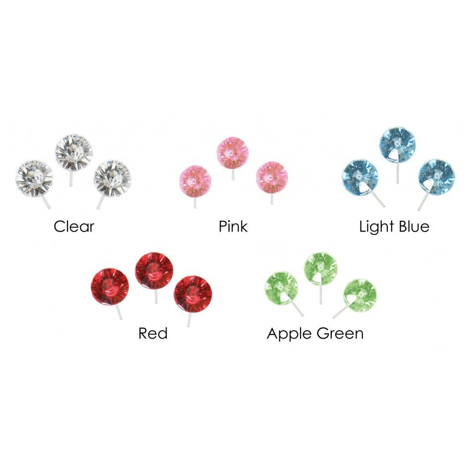 Apple Green OASIS® 2 Diamante Floral Pins (Set of 100 Pins) [2705 ...