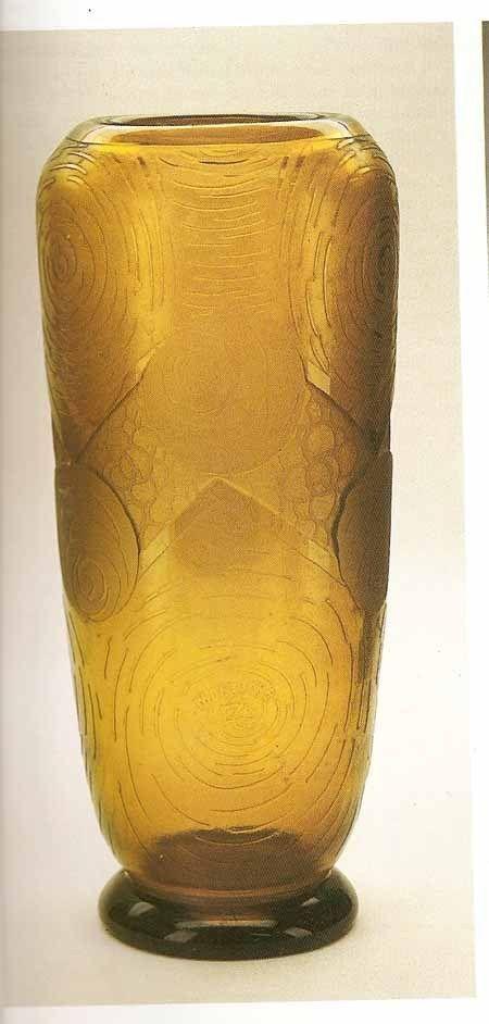 vase art deco verre souffl mon joye legras auguste. Black Bedroom Furniture Sets. Home Design Ideas