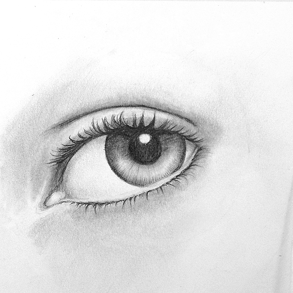 Auge zeichnen - Schritt 12 | Auge Zeichnen | Schritt für Schritt ...